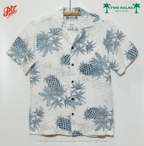 Two Palms Pineapple Map White