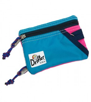 KEY COIN POUCH AQUA/HOT PINK